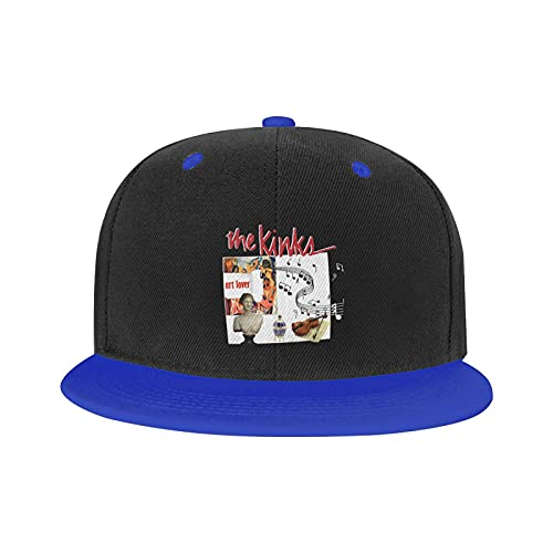 Marat Gorra Hip-Hop The Kinks Póster ajustable al aire libre, unisex, color blanco, azul, XL