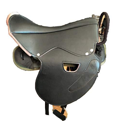 XMXM Sattelgestell Pferdesattel Sattelset Pferdesattel Sattelset Pferdesattel Hocker Sattel geeignet zum Radfahren stabil komfortabel Sicherheit Handlauf Bewegungssattel