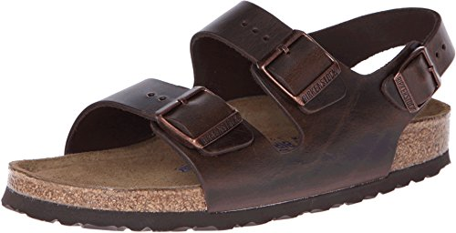 Birkenstock Milano - Leather Soft Footbed (Unisex) Brown...