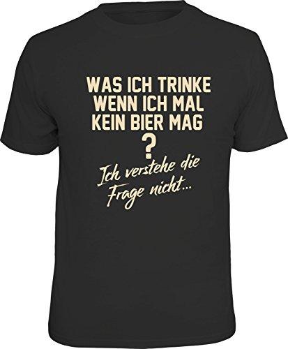 RAHMENLOS Original T-Shirt für den Bier-Kenner: was ich trinke wenn ich mal kein Bier mag? Ich verstehe die Frage Nicht… XXL, Nr.6237