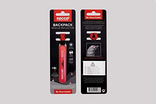 RECCO Rettungs-Reflektor RED für RUCKSÄCKE Universal