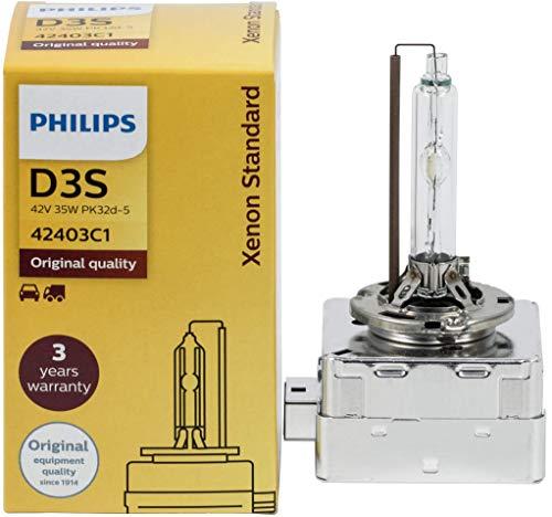 Faros de coche Philips D3S 42302 XenStart, bombillas estandar de xenon originales para autos, lámparas para carros.