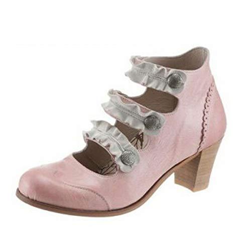 dkode Damen Leder Schuhe Stiefel Stiefelette Pumps Rosa Schuhgröße EUR 37