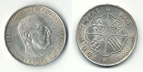 Matidia España100 pesetas 1966 en Plata Francisco Franco
