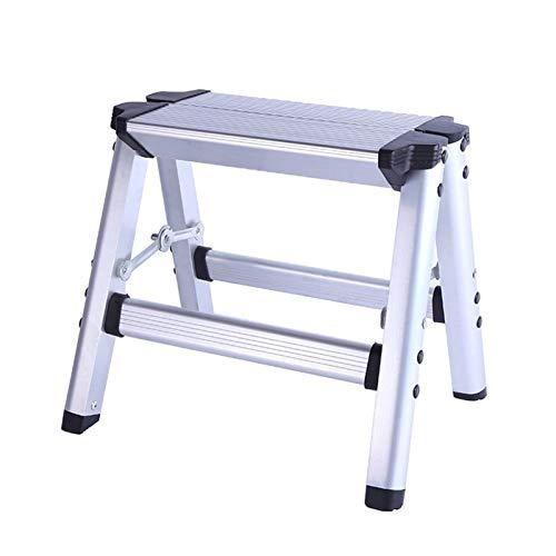Gaorb040703 Inicio 150KG de Carga máxima Plegable de Aluminio Escalera 2 Paso Stool Escalera Antideslizante Plataforma Seguridad de la Escalera Herramientas de Hardware (Color : 1pc)