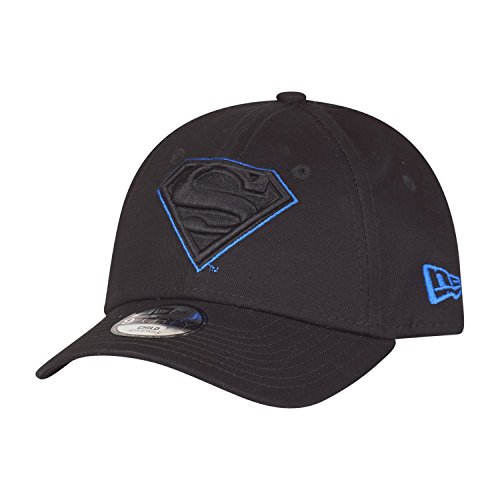 New Era Char Outl 9Forty Adjustable Kids Cap Superman Schwarz, Size:Youth