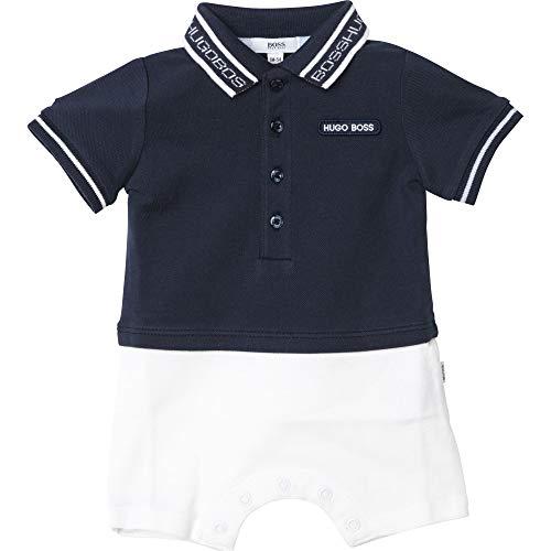 BOSS BEBE - Combi-pantalón corto efecto 2 en 1, color azul cargo 6 meses