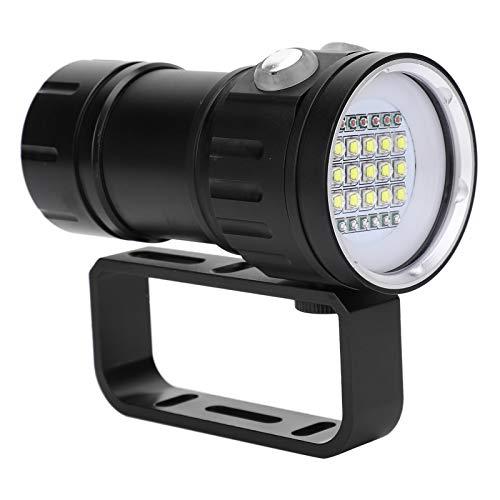 TAKE FANS Lámpara de Buceo - Lámpara de Buceo de Aluminio Impermeable Multifuncional Linterna de luz LED para fotografía subacuática