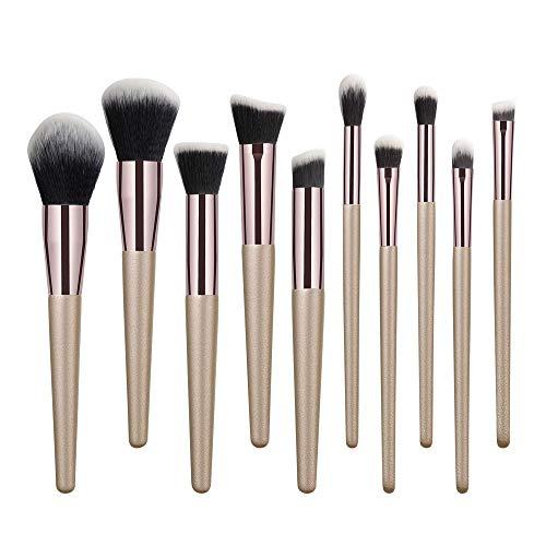 Perfect diary Ensemble Brosse de Maquillage, 10PCS Crayon à Sourcils de Fond de Teint, Fard à Joues Maquillage Brosse Anti-cernes A ++