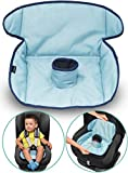 Car Seat Protector for Potty Training | Travel potty Cover from Crumbs, Spillages, Nappy Leaks & Toilet training| Fits all carseat & buggy, age: 6 months - 4 years old | keeps seat Clean & dry! (Blue)