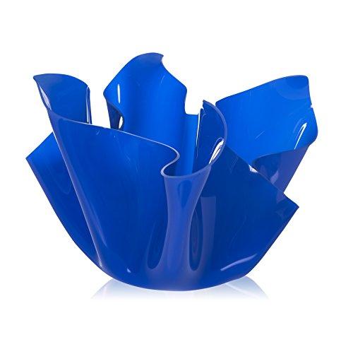 Iplex Design Décoration d'auteur Pot Multi-Usage, Acrylique, Bleu, 45 x 45 x 29 cm