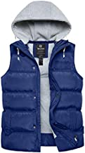 Wantdo Women's Insulated Hooded Winter Sleeveless Vest Puffer Coat Blue X-Large