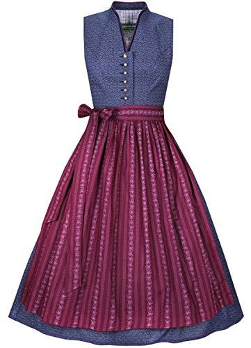 Country-Line Damen Trachten-Mode Midi Dirndl Conny in Blau, Größe:44, Farbe:Blau