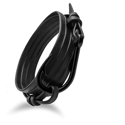 Design in Leather maritimes Haken Leder Armband sicherer Hafen 4.0