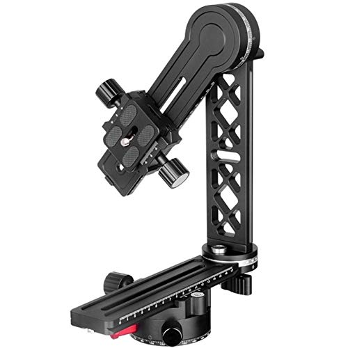 Panorámica Cabeza de trípode con Extended Qr Plate y Nodal ferrocarril de Diapositivas, 3D de 360 Grados de Cobertura de Alta Brack Panorama for Las cámaras Digitales (Color : Black)