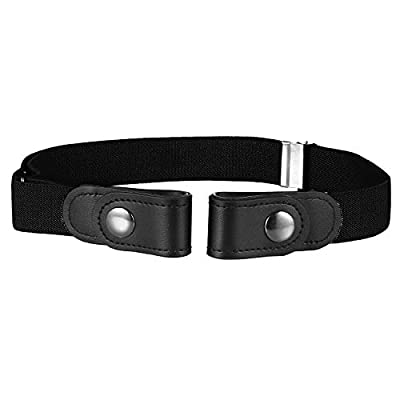 Buyless Fashion Kids Boys Toddler No Buckle Adjustable Elastic Dress Stretch Belt - 5098-Black