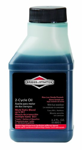 Briggs & Stratton 100107 2-Cycle 3.2-Ounce Bottle of Easy Mix Ashless Oil for Up to 50:1 Mix Ratio