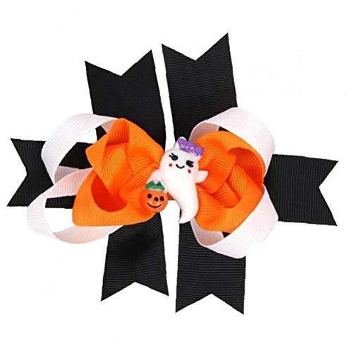 1pc Halloween-kinder-haar-zusätze Cartoon-haar Beugt Klipp-boutique Alligato Halloween Bow Ripsband Zubehör Für Mädchen Baby Kleinkinder (a)