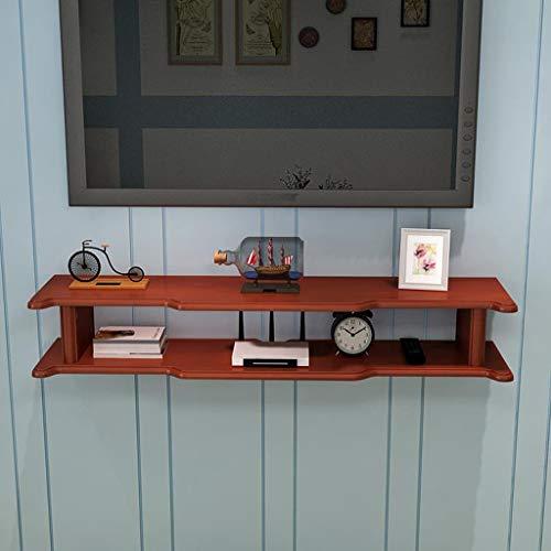 Étagère murale en bois massif Routeur WiFi Set Top Box Lecteur DVD Étagère de rangement pour CD Étagère murale pour téléviseur Étagère flottante Étagère multifonctionnelle