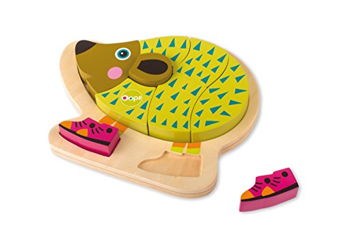 Oops Wooden Mr Pic 3D Happy Puzzle/Shape Sorter in Vibrant and Super Cute Hedgehog Design