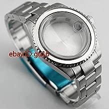 FidgetKute 40mm Sapphire Glass case for ETA 2836 Mingzhu 2813,3804 Miyota 82 + bezelx1,p620 Show One Size