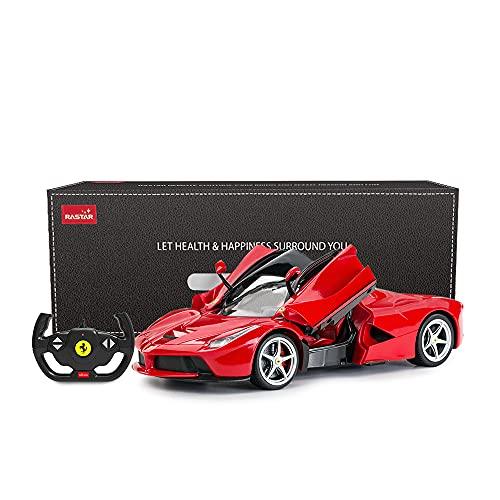 RASTAR RC Car   1/14 Scale Ferrari LaFerrari Radio Remote Control R/C Toy Car Model Vehicle for Boys Kids, Red, 13.3 x 5.9 x 3.3 inch