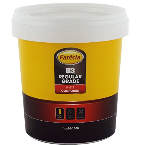 FARECLA G3 Rubbing Compound Regular Cutting Paste 1kg 1000g Tub Car Polishing Scratch Swirl Remover Colour Restorer Permanent Finish - Contains no fillers so scratch marks will not reappear