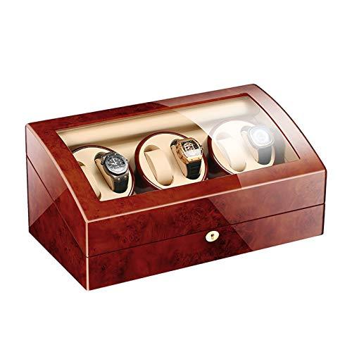 Jlxl Enrollador Reloj Automático Caja Enrolladora Reloj 6 + 7 Motor Watch Winder Silencioso Configuraciones Controladas Independientemente Relojes Display Storage Accesorios (Color : C)