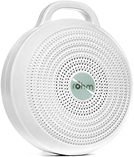 Yogasleep Rohm Portable White Noise Machine for Travel   3 Soothing, Natural Sounds with Volume Control   Compact Sleep Therapy for Adults & Baby   USB Rechargeable   Lanyard for Easy Hanging