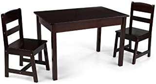 KidKraft Wooden Rectangular Table & 2 Chair Set For Kids - Espresso