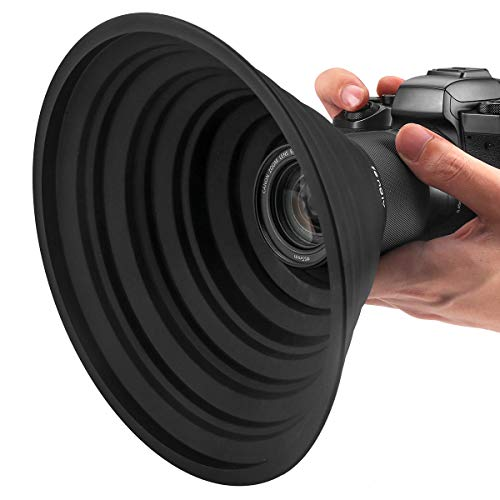 レンズフード 忍者フード 52mm-67mmレンズ用 夜景撮影 窓ガラスの映り込みを防止 簡単装着 一眼レフ 望遠レンズ 動画撮影 柔軟性 水洗い FENGLV