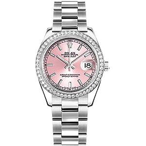 Fashion Shopping Women's Rolex Datejust 31 Pink Dial Diamond Bezel Luxury Watch 178384