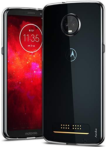 Aeska Moto Z3 Play Case, Moto Z3 Case, Ultra [Slim Thin] Flexible TPU Gel Rubber Soft Skin Silicone Protective Case Cover for Motorola Moto Z3 Play (Clear)