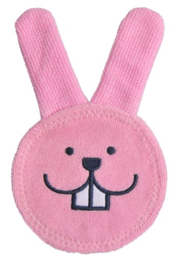 MAM Oral Care Rabbit, Microfibre Cloth for Cleaning Mouth and Gums, Recommended Dental Hygiene Before Teething Begins, Newborn Essentials Suitable From Day One, Pink