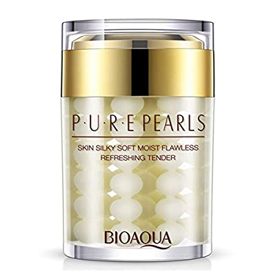 BIOAQUA Pure Pearl Face Cream Essence Hyaluronic Acid Cream Moisturizing Skin Care Anti Wrinkle Whitening Cream Mask 60g by