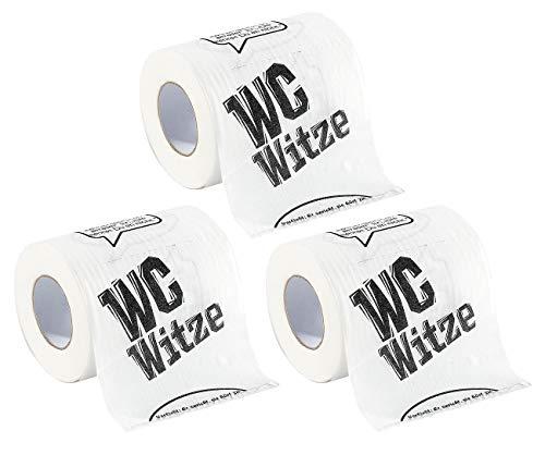 infactory Farbiges Klopapier: 3 Rollen Toilettenpapier Witze (WC-Papier lustig)
