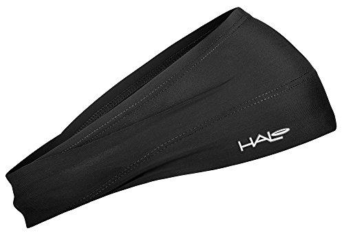 Halo Headband Bandit – Faixa de transpiração larga para homens e mulheres, preta