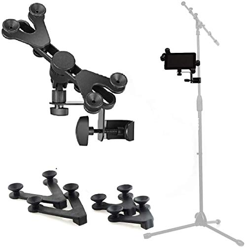 Hola! Music HM-MTH Microphone Music Stand iPad Tablet Smartphone Holder Mount - Fits Devices from 6 to 15 Inch