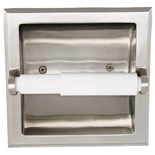 Design House 539189Millbridge Recessed Toilet Paper Holder for Bathroom, Satin Nickel Finish, One Size