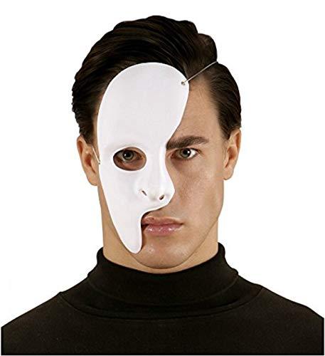 KIRALOVE Máscara de Fantasma de Media Cara de la ópera Carnaval Disfraz de Halloween Cosplay Idea Cosplay