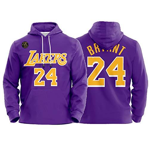 Kobe Bryant - Sudadera de manga larga con capucha, diseño de Mamba Lakers 24 # 8 # City Edition, tejido elástico profesional y transpirable (XS-3XL)