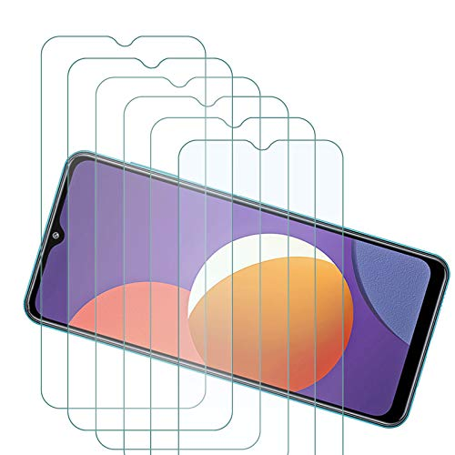 ELANG Tempered Glass Screen Protector for Samsung Galaxy M12 (6.5 inch),Case Friendly 9H Hardness HD Clear Anti-Fingerprint Film for Samsung Galaxy M12 [6-Pack]