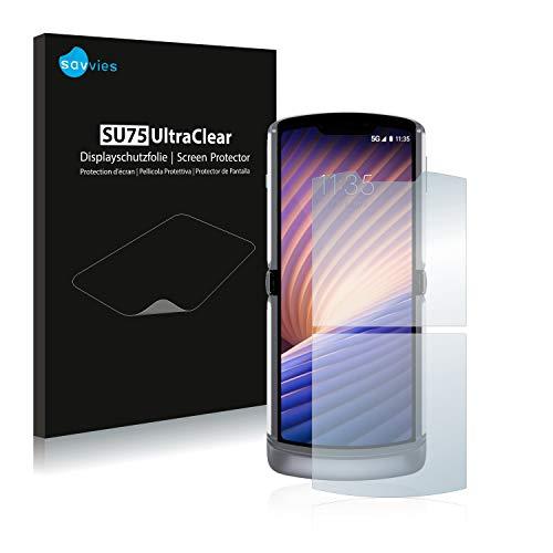 Savvies 18x Schutzfolie kompatibel mit Motorola Razr 5G 2020 Bildschirmschutz-Folie Ultra-transparent
