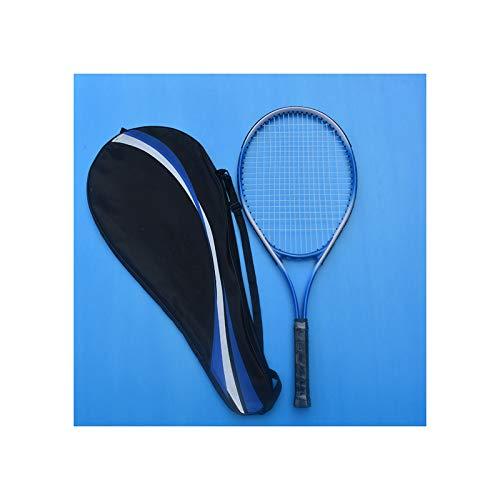 HLONGG Raqueta De Tenis Profesional, Práctica para Principiantes, Unisex, Estudiante, Raqueta De Tenis para Adultos (Sola),Azul