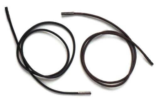 Ability Superstore 31225 Soesi Elastische Schnürsenkel, braun, 18-Zoll-3 Paar