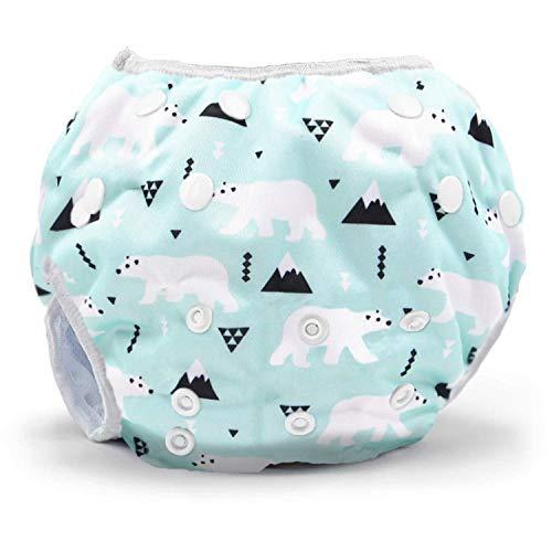 Storeofbaby Pañales de baño lavables para bebés para niñas que nadan pañales 0-3 años