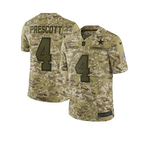 Nike Dallas Cowboys Men's Dak Prescott 4 Salute to Service Limited Jersey Size: Small Camo