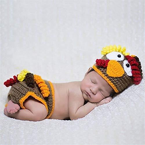 Accesorio de fotografía de bebé Infantil Forma Fotografía polluelo Ropa de bebé foto del bebé de lana ropa que hace punto tanto para niña como para niño ( Color : Photo color , Size : One size )