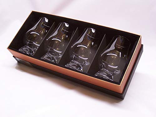 3.8ly - Glencairn Whisky Tasting Nosing Glasses in The New Black/Gold Presentation Box- (FREE UK Delivery)