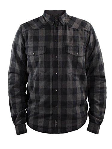 John Doe Motorrad Hemd Motoshirt Lumberjack XTM Grey/Black-3XL